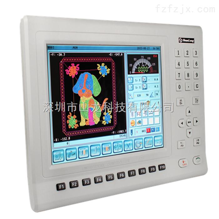 A19系统是一款采用大尺寸高清显示屏,以轻触按键方式操控的高端刺绣机控制系统,以满足刺绣机用户对中高端机型的需求而设计开发。系统支持全伺服高速平绣机、特种绣、绗缝/绗绣等机型,通过特定的功能装置匹配,可实现锁式毛巾绣、单/多金片绣、简易绳绣、激光切边、打孔、镂空等多功能组合。 * TFT10.